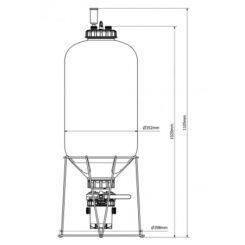 ถังหมัก FermZilla - 55L - Conical Uni Tank Fermenter