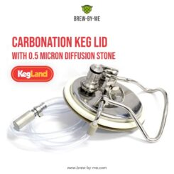 Carbonation Keg Lid with 0.5 Micron Diffusion Stone